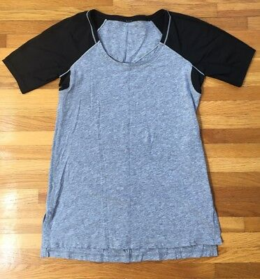 4aed5aa99 Women's LULULEMON Short Sleeve Work out shirt /Black Gray /Size See  Measurements
