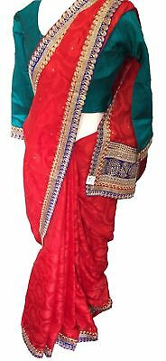 NEW Bollywood Indian Saree Pakistani Designer Sari Wedding Party Wear Saree