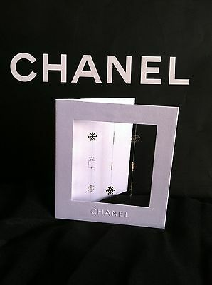 Chanel Holiday Card With Gold Charms of CC Logo, Perfume Bottle, Snowflake
