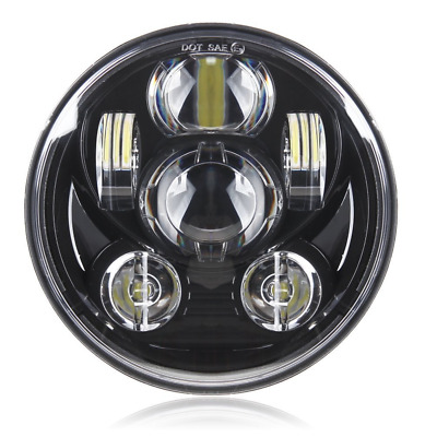 """Black 5-3/4"""" Motorcycle Projector Daymaker LED Headlight for Harley Dyna Wide Gl"""
