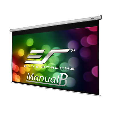 Elite Screens Manual B Series, 100-inch Diagonal 16:10, Pull Down Projection Man