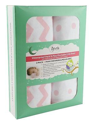 Waterproof Pack N Play Sheet | Mini Crib Sheet Set with Mattress Pad Cover...