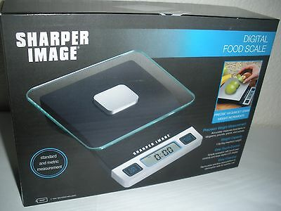 The Sharper Image Digital Food Scale*11lb., Battery, and Black/Grey*