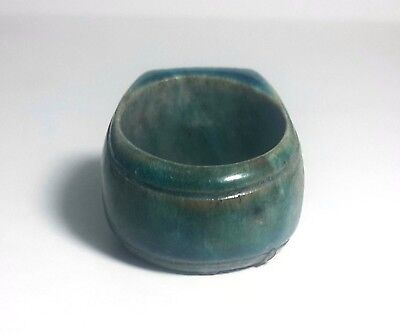 RARE ANCIENT EGYPTIAN GLASS FAIENCE RING d New Kingdom (1549–1069) BC