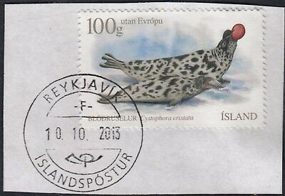 Iceland 2012 100g (475k) Hooded Seal on Piece VFU