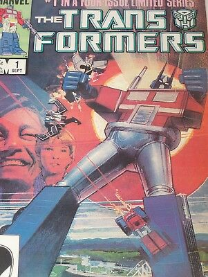 The Transformers #1 (Sep 1984, Marvel) Issues 1 2 3 4