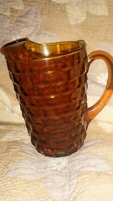 Amber glass vintage pitcher
