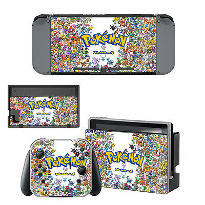 Pokemon Decal Skin Sticker Dust Protect Cover For Nintendo Switch Console AU
