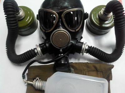 GAS MASK PMK-2 drinking system (Mask,2Hose,2Filters,Jar,Bag), New,Russian Army