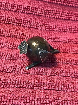 Antique Plated PLACE CARD HOLDER? Or Decoration Keepsake Of a Pomegranate
