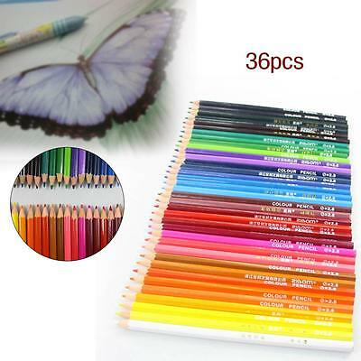 36 pcs Wood Non-toxic Colored Drawing Pencils 36 Colors Drawing Sketching SA