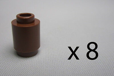 A9787. 8, Lego 1 x 1 Round Bricks - Brown