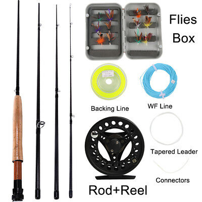 Sougayilang Fly Fishing Rod with Reel Combo Kit For Saltwater Freshwater