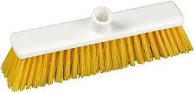 Hillbrush Polyester Broom Head 275mm Stiff Yellow