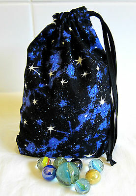 Drawstring Marbles Bag Small Toy Storage Bags Gift Bag Night Sky
