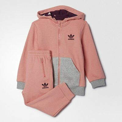 adidas girls Originals baby toddlers infants kids HFL tracksuit girls trackie