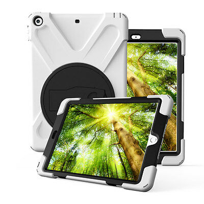 Rugged Stand Case Cover + Screen Protector For iPad 9.7 Inch 2017 A1823 A1822