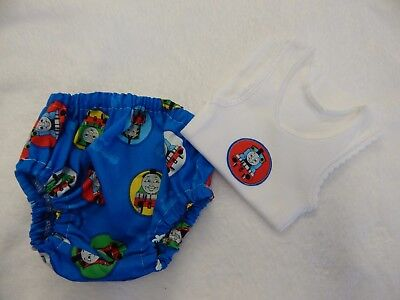 Baby Boy Singlet and Nappy Diaper Cover - Thomas The Tank Engine - Newborn Size