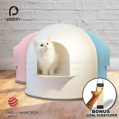 Pidan Igloo Snow House Portable Hooded Cat Toilet Litter Box Tray House w/ Scoop