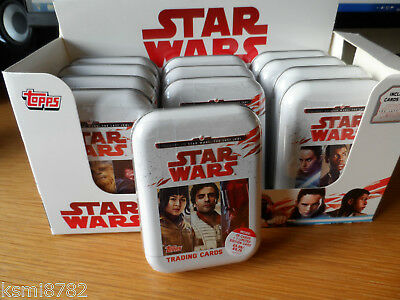 Topps Journey To Star Wars The Last Jedi  Ltd Collectors Mini Tins