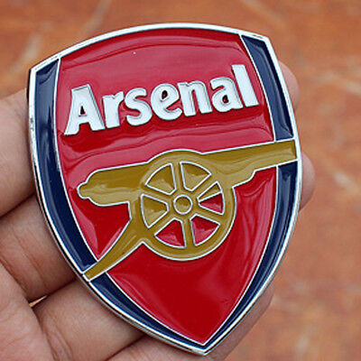 2pcs 3D Car Sticker Alloy Arsenal Football Team Logo Auto Cover Decal