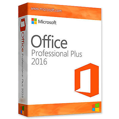 Microsoft Office 2016 Pro Professional Plus Original Full Version 1 PC 32/64 Bit