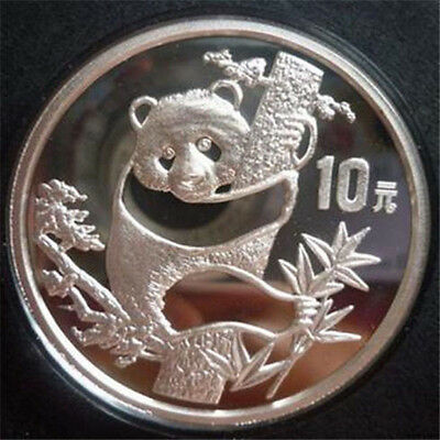 1987 Chinese 1oz Pure Silver china Panda Coin 10Yuan