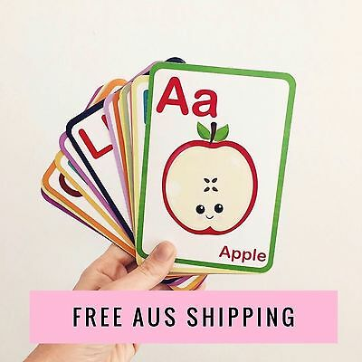 Flashcards - Flash Cards - Learn ABC - Montessori - Alphabet Flash Cards -