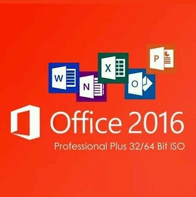 Microsoft Office 2016 Pro Professional Plus Original  32/64 Bit