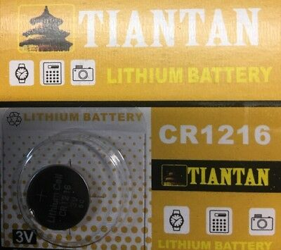 1 Pc 3V CR1216 Tiantan Lithium Button Cell Battery Remote Free Ships From USA!