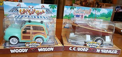 Chevron Cars Woody Wagon And C.c. Boat & Trailer - New In Package