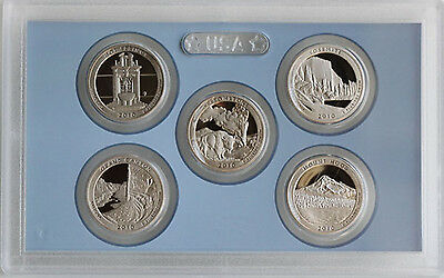 2010 America the Beautiful Quarters Clad Proof ATB 5 Coin Set No Box Five Coins