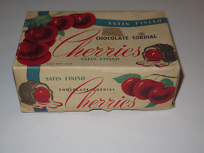 Vintage Luden's Satin Finish Chocolate Cordial Cherries Empty Box 1 Lb
