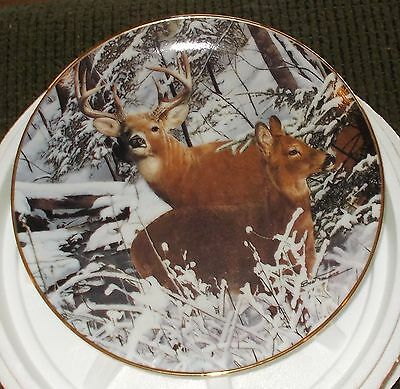 "Danbury Mint Plate ""Snowbound"" by Bob Travers - Brand New/Original Packaging"