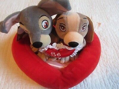 Lady & The Tramp Valentine Set Mini Bean Bag/Beanie Baby Plush Toy Set With Tags