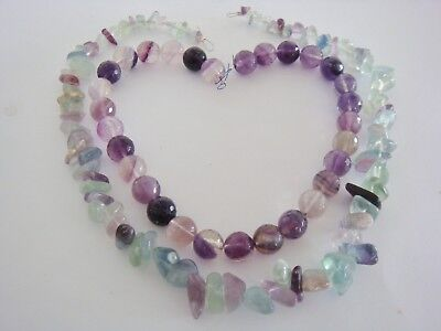 Fluorite 2 strand bundle of rounds & nuggets