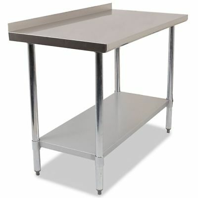 COMMERCIAL STAINLESS STEEL KITCHEN FOOD PREP SHELF WORK TABLE BENCH 1200mm WIDE
