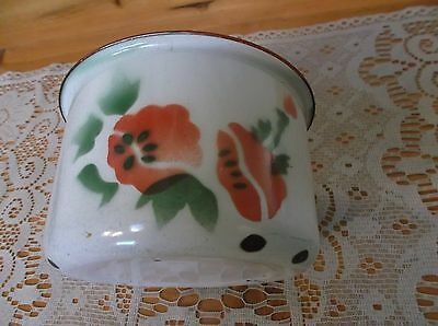 Rare Vintage Enamelware Graniteware Childs Flowered Chamber Pot *EVC*