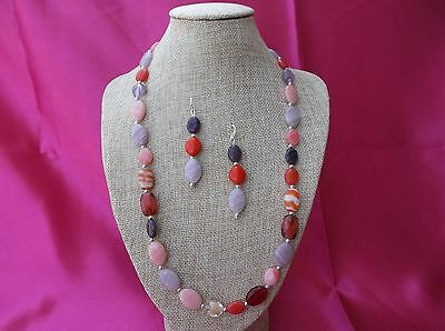 Beautiful Handmade Czech glass necklace with silver plated accents