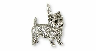 Cairn Terrier Charm Jewelry Sterling Silver Handmade Dog Charm CNWT19-C