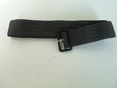 Barour-Waxed Cotton Belt For  A7 International Jacket-  Black-New Old Stock-48