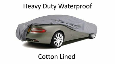 AUDI A4 Convertible INDOOR OUTDOOR FULLY WATERPROOF CAR COVER COTTON LINED HEAVY