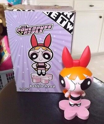 Warner Bros. Powerpuff Girls BLOSSOM Bobblehead Cartoon Network w/ Box