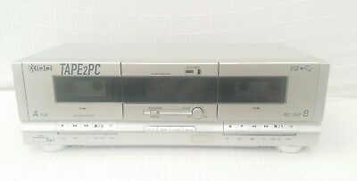 Ion TAPE2PC AUDIO CASSETTE ARCHIVER Twin Tape Deck Player USB TO PC MP3 WAV