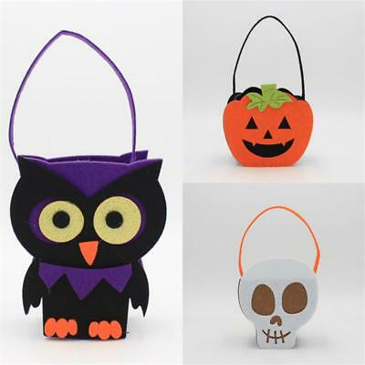 Kids Trick or Treat Halloween Pumpkin Owl Bags Candy Bag Tote Props
