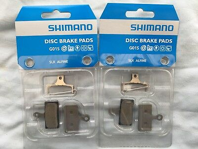 2 sets of Shimano Disc Brake Pads Resin G01S XTR XT SLX Alfine **New**