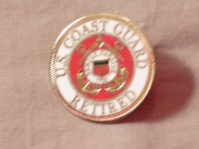 Masonic Retired US Coast Guard Anchor Square Compass Tac Pin Fraternity NEW!