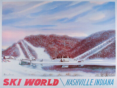 STRANGER THINGS Ski World NASHVILLE Indiana POSTER Art Print HAROLD HANCOCK