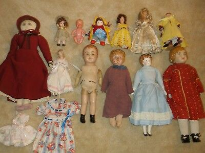 LOT of 12 Vintage Antique Dolls, Mostly 1930s and 1940s