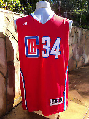 LA Clippers NBA Mens Basketball Jersey Size Medium Home Strip Paul Pierce